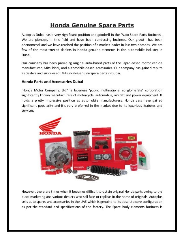 Honda Genuine Spare Parts