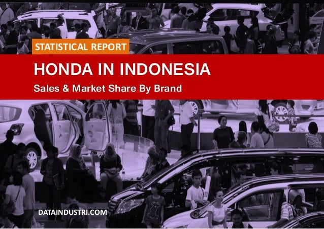 HONDA IN INDONESIA Sales & Market Share By Brand DATAINDUSTRI.COM STATISTICAL REPORT