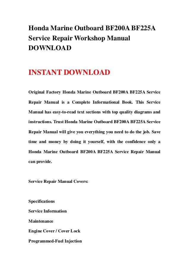 honda marine manual download