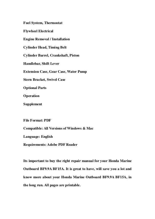 honda marine outboard bf9 9 a bf15a service repair workshop manual do rh slideshare net Manual Book Service Station
