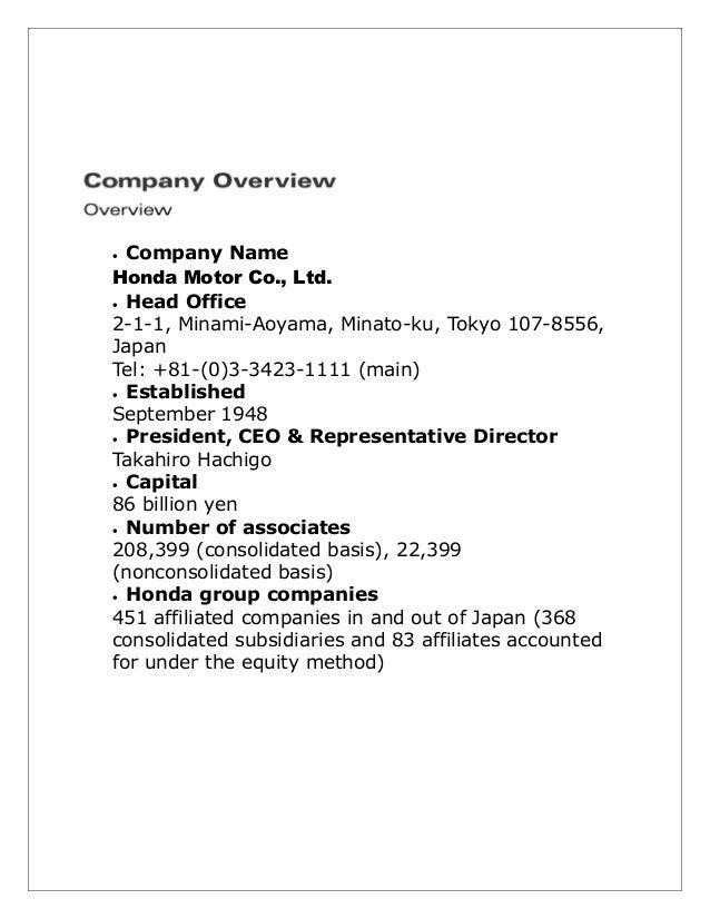 3 Company Name Honda Motor