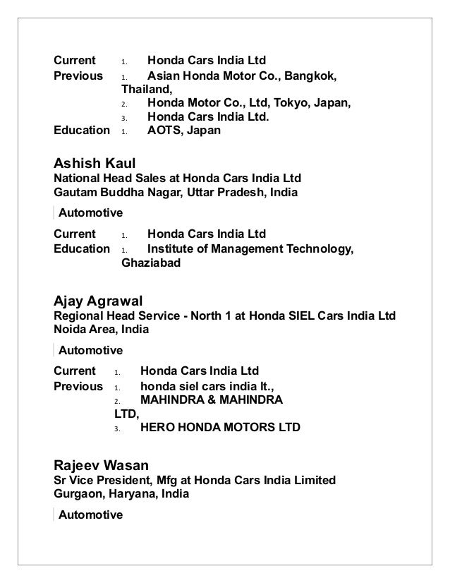 Honda Cars India Ltd Automotive 9