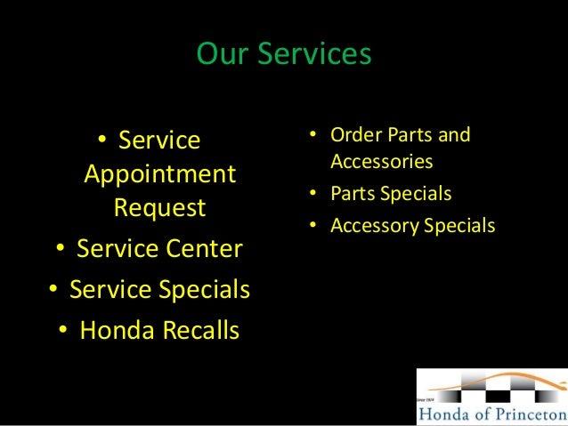Princeton Honda Service >> Honda Of Princeton