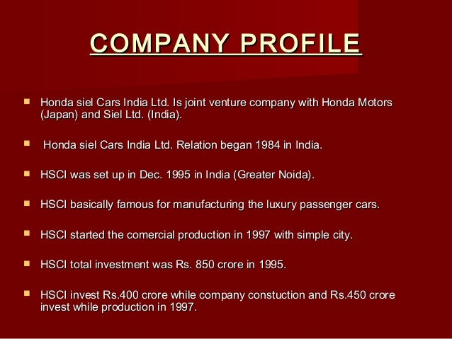Employee Job Satisfaction PPT On Honda