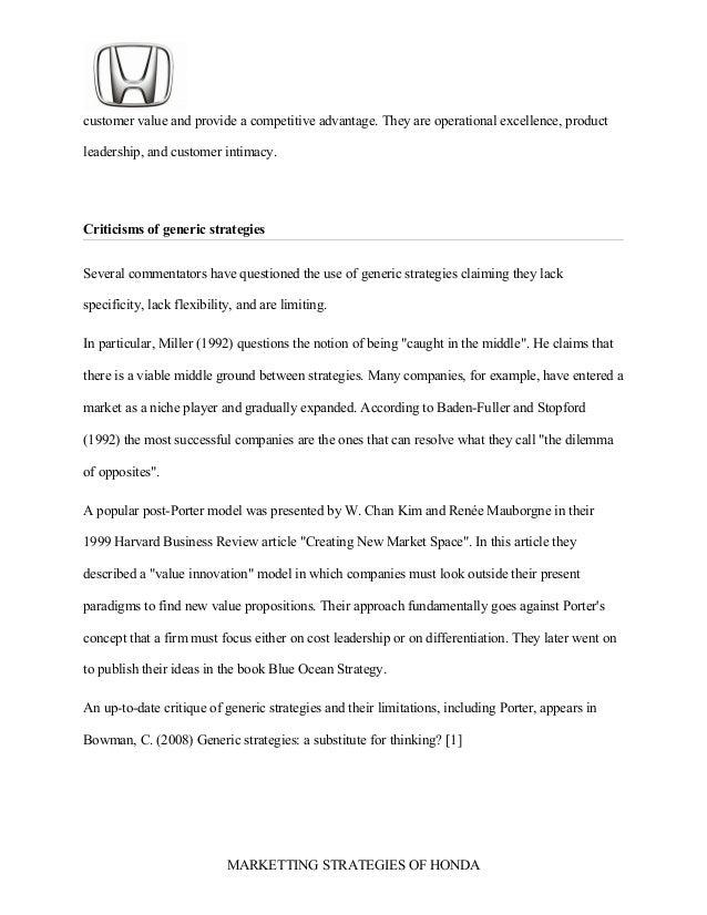 honda business plan pdf