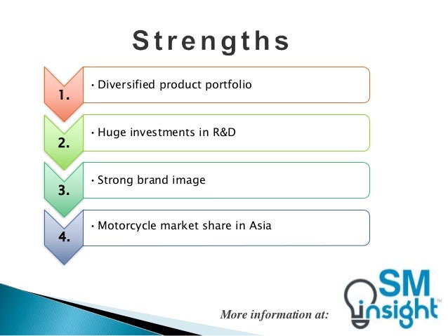 honda full swot analysis Toyota motor corporation's swot analysis (strengths, weaknesses, opportunities, threats) case study identifies the internal and external strategic factors.