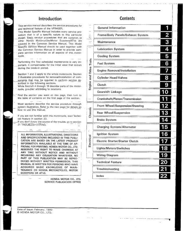 honda vfr400 nc30 service manual rh slideshare net honda vfr 400 manual pdf honda vfr 400 manual pdf