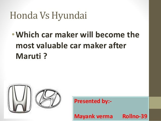 Honda Vs Hyundai OWhich Car Maker Will Become The Most Valuable After Maruti