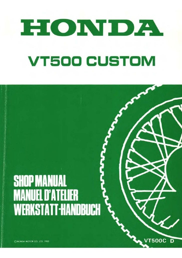 honda vt 500 c 83 service manual eng ger by mosue p1 50 rh slideshare net 1985 honda shadow vt500 service manual 1984 honda ascot vt500 service manual