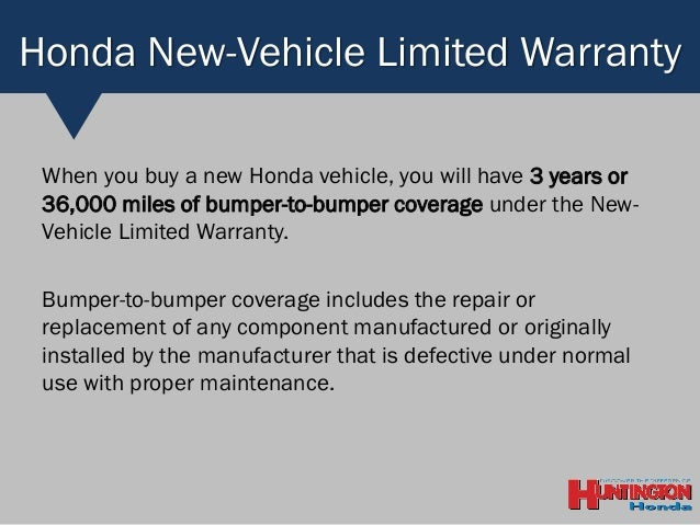 Good Honda New Vehicle Limited Warranty ...