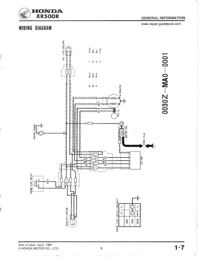honda xr 200 wiring diagram 9