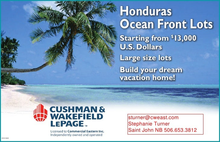Honduras           Ocean Front Lots           Starting from $13,000           U.S. Dollars           Large size lots      ...