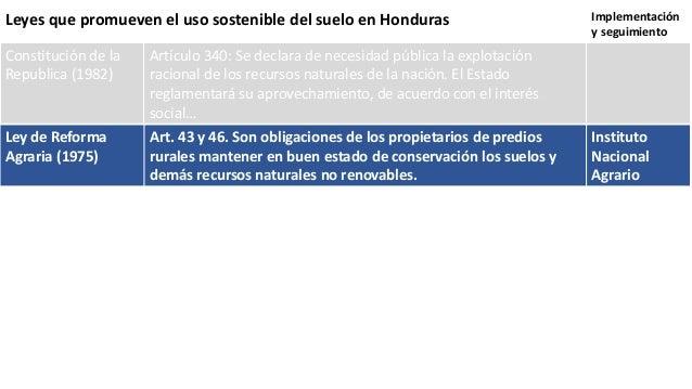 Respuestas del marco legal e institucional frente a las for 4 usos del suelo en colombia