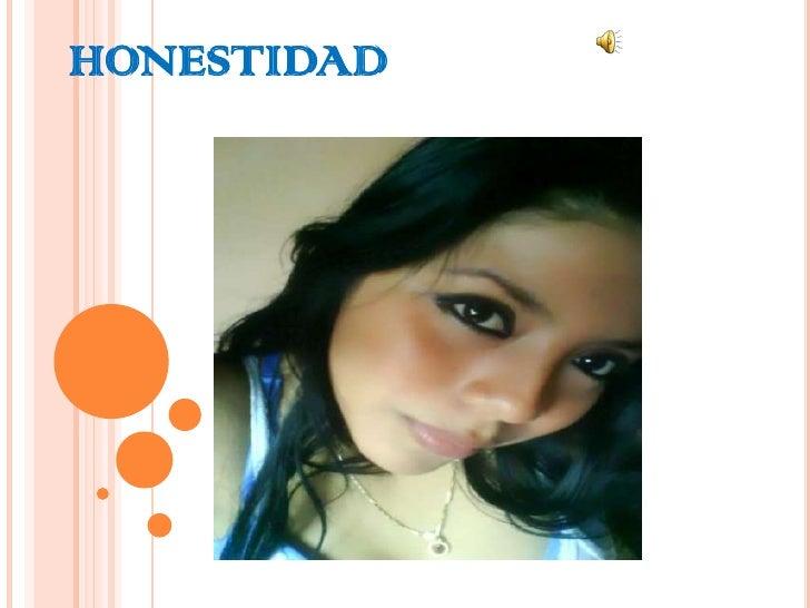 HONESTIDAD<br />