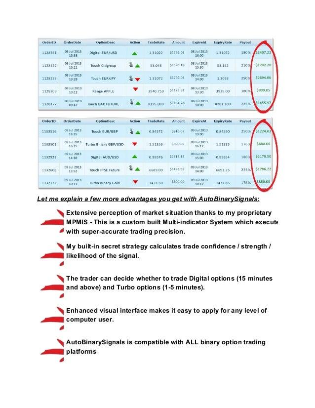 Super simple 5 minute binary options mechanical advantage