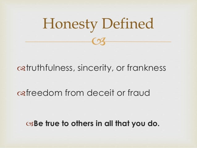 Honesty integrity revised