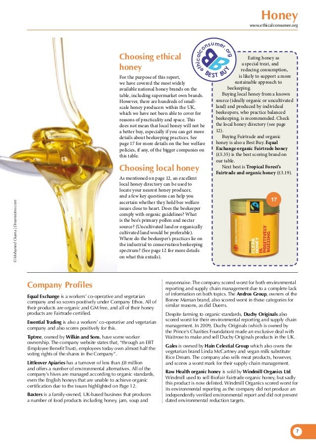 Honey - an ethical guide