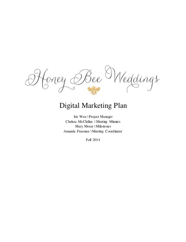 marketing plan for wedding planner