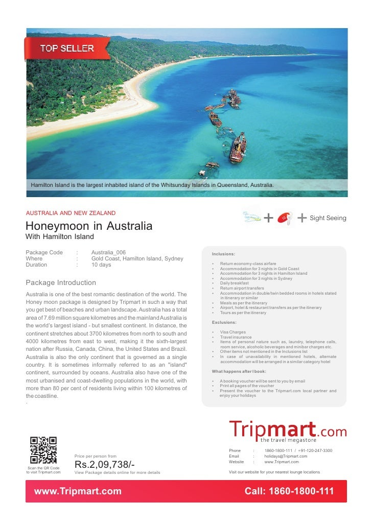 Hamilton Island is the largest inhabited island of the Whitsunday Islands in Queensland, Australia.AUSTRALIA AND NEW ZEALA...