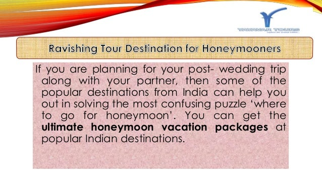 Honeymoon Tour Packages India Slide 3