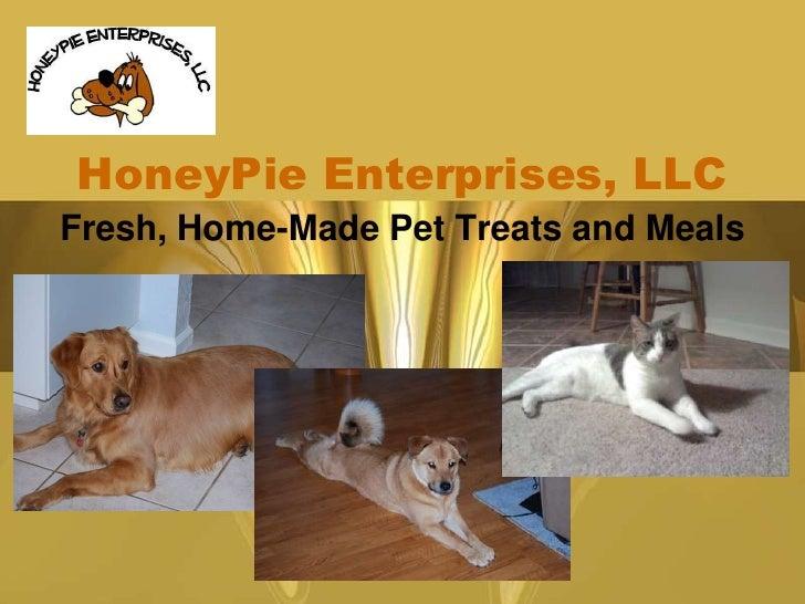Fresh, Home-Made Pet Treats and Meals<br />HoneyPie Enterprises, LLC<br />