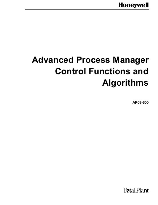 Advanced Process Manager Control Functions and Algorithms AP09-600
