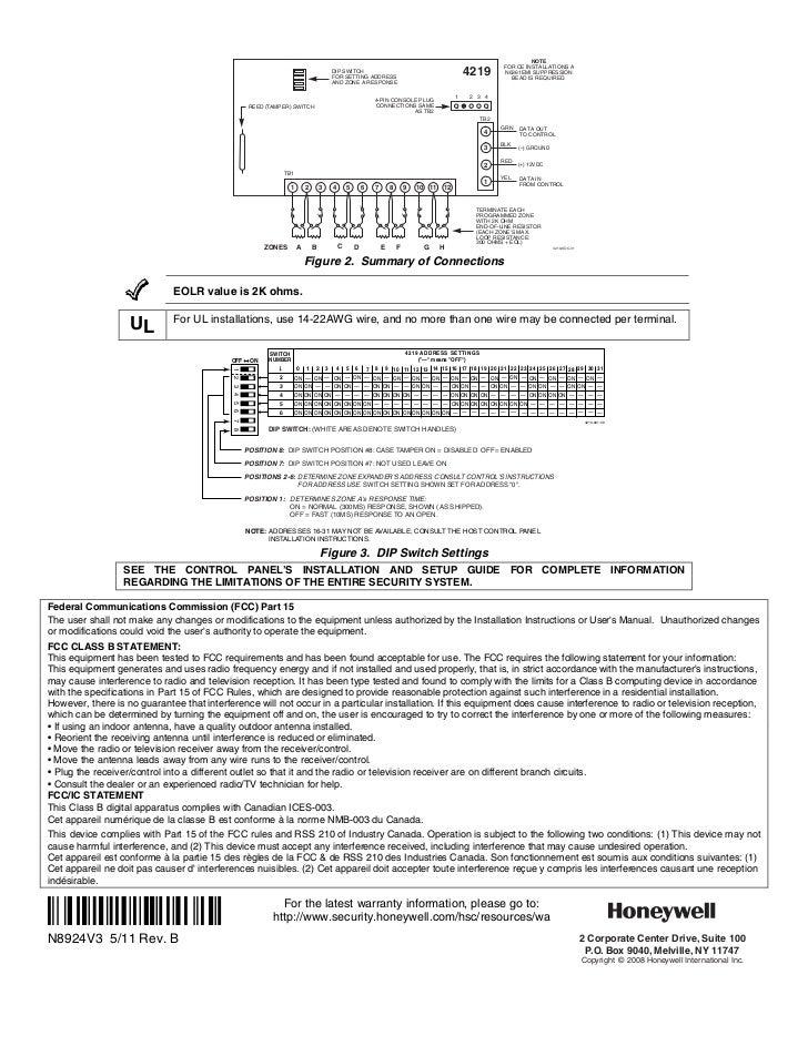 Honeywell 4219installguide – Dip Switch Wiring Diagram