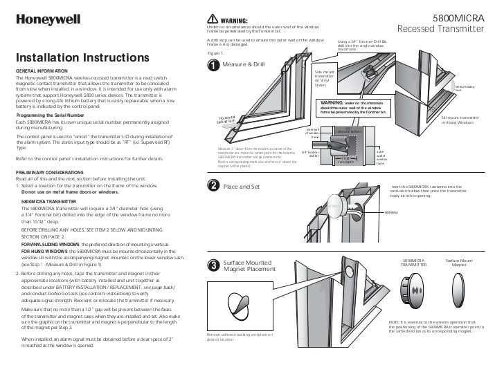Honeywell 5800Micra Install Guide