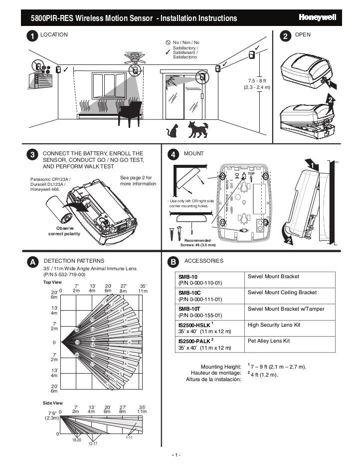 honeywell 5800pir res install guide rh slideshare net Motion Sensor Light Wiring Diagram Leviton Motion Sensor Wiring Diagram