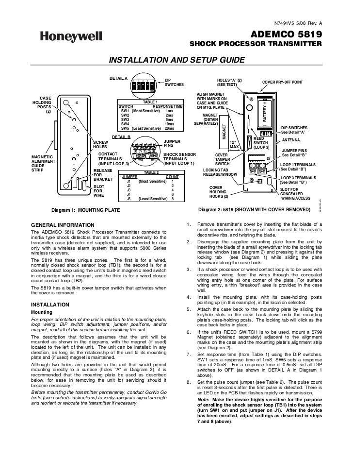 HONEYWELL 5819WHS PDF