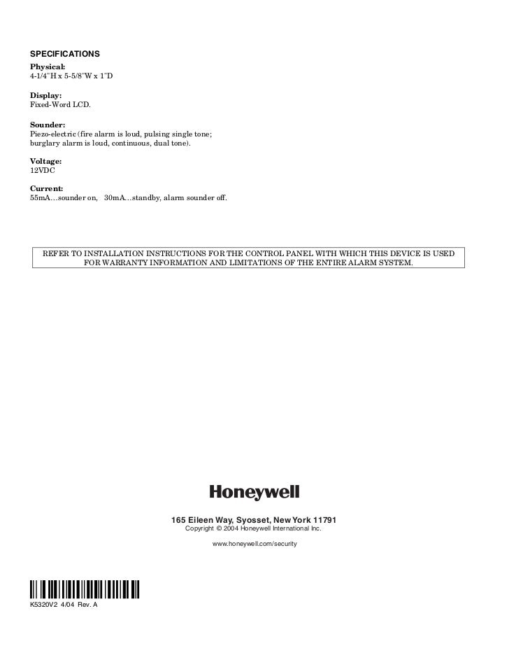 Honeywell 6148-install-guide