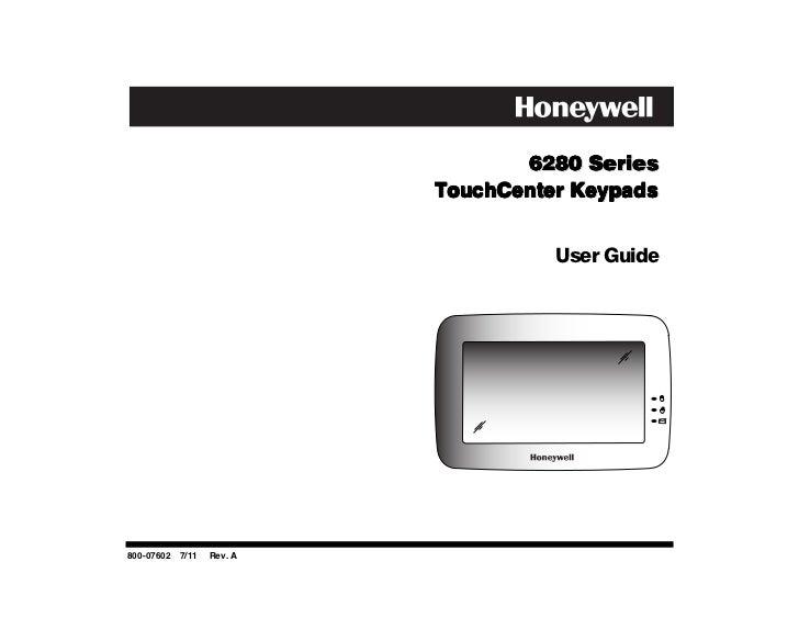 6280 Series                          TouchCenter Keypads                                    User Guide800-07602 7/11   Rev...