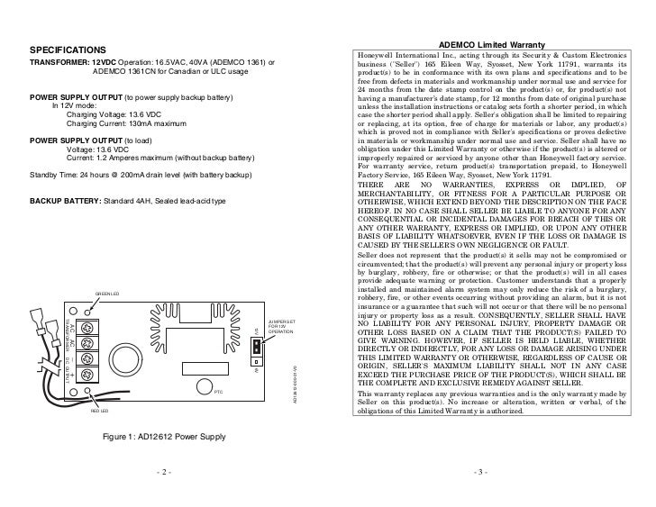 Honeywell ad12612-install-guide