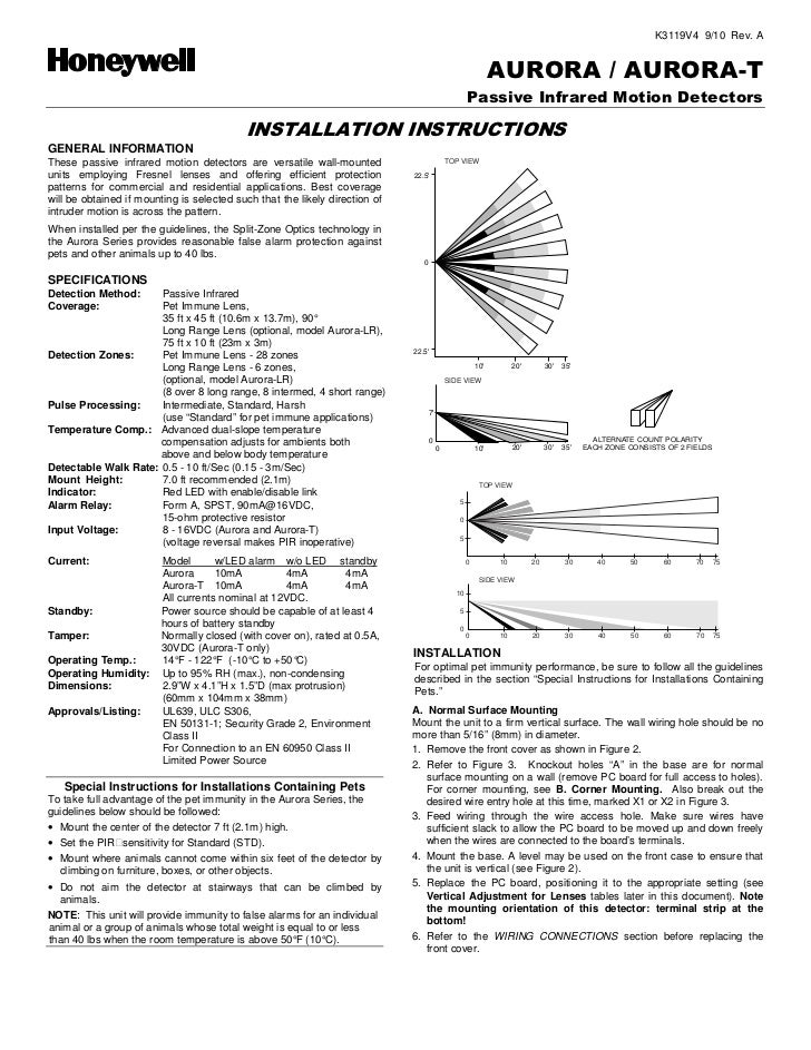 Honeywell aurora-install-guide