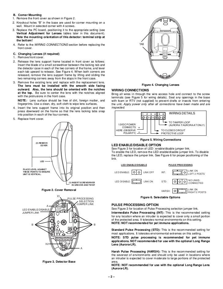 honeywell aurora install guide rh slideshare net  honeywell pir motion sensor wiring diagram