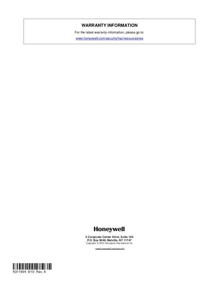 Honeywell 997 Installation manual