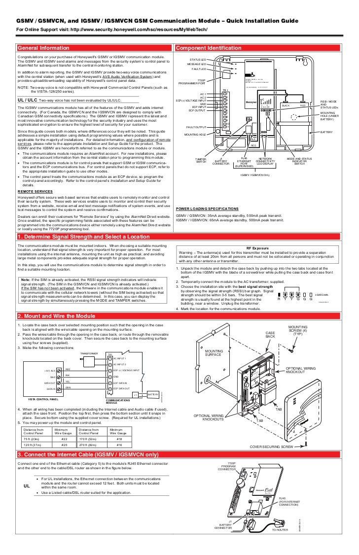 Honeywell Gsmvhoneywelligsmvquickinstallguide. Gsmv Gsmvcn And Igsmv Igsmvcn Gsm Munication Module Quick Installation Guidefor Online. Wiring. Honeywell Wiring Diagrams Two Way Voice At Scoala.co