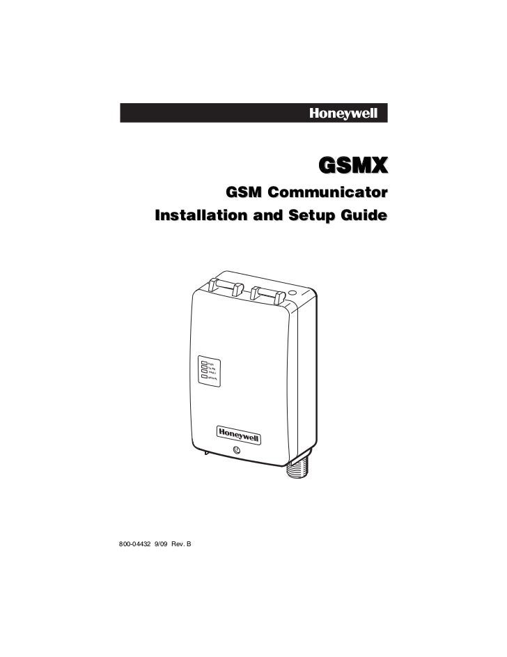 Honeywell gsmx-install-guide