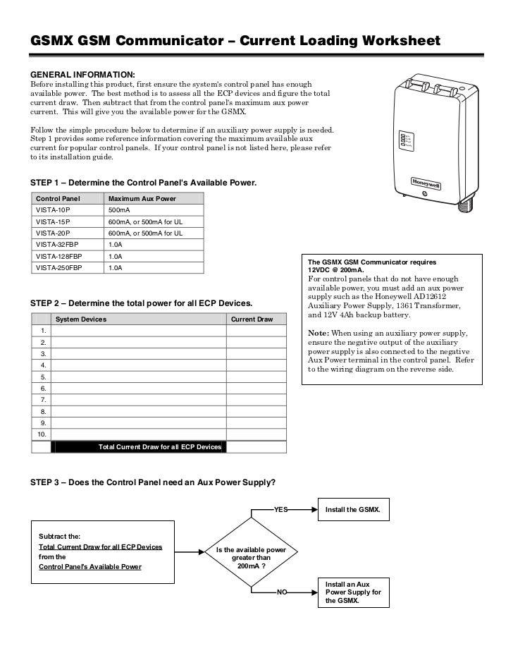 honeywell gsmx power output worksheet rh pt slideshare net