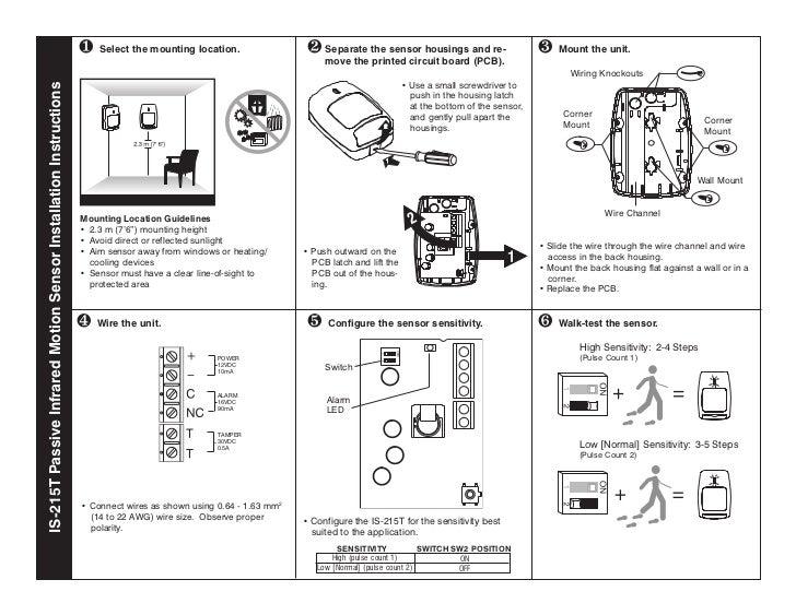 honeywell is215t install guide rh slideshare net Camera Motion Sensor Wiring Diagram Leviton Motion Sensor Wiring Diagram