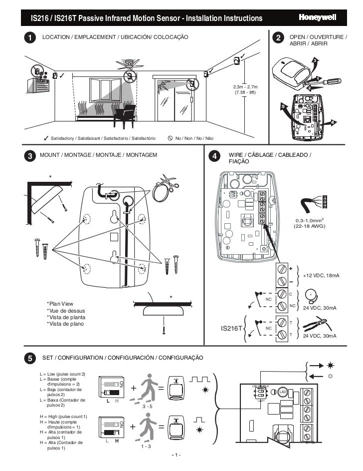 Heath Zenith Motion Sensor Light Wiring Diagram PIR Motion