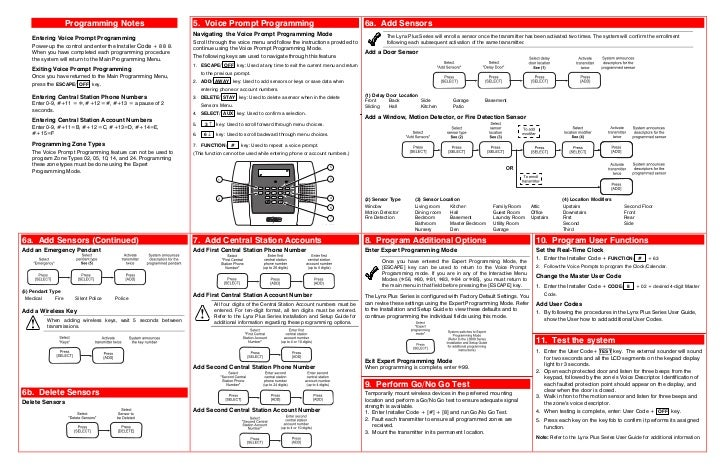 honeywell l3000 quick install guide rh slideshare net honeywell lynx plus installation manual ademco lynx plus installation manual