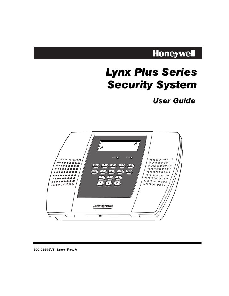 Lynx Plus Series                                                   Security System                                        ...