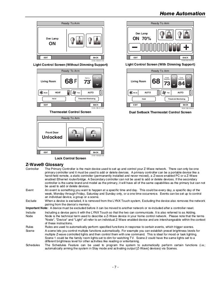 honeywell z wave thermostat manual
