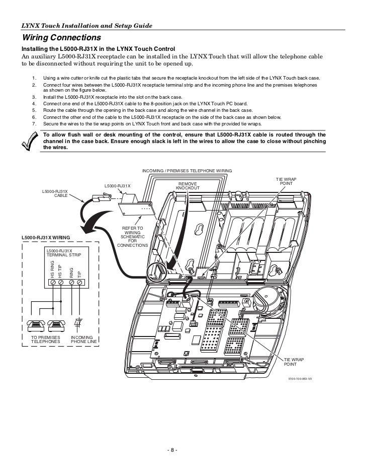 honeywell l5100 install guide rj31x jack wiring 8 lynx touch installation