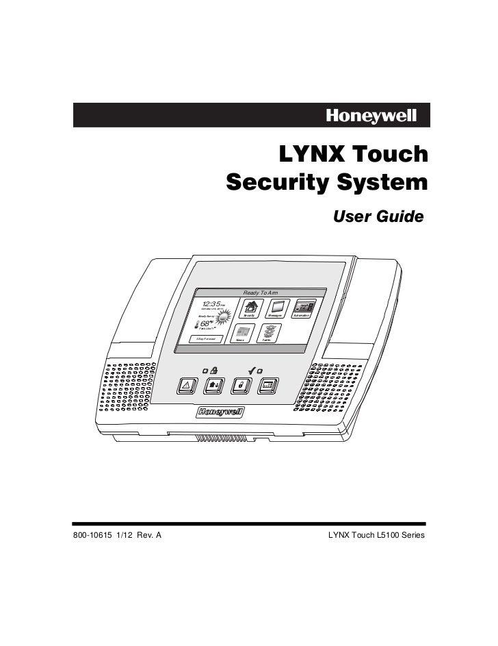 honeywell l5100 user guide rh slideshare net Lynx 5100 Manual honeywell lynx 5100 programming guide