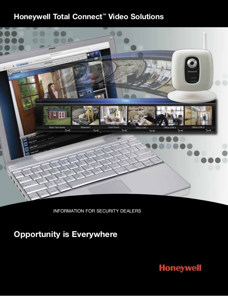 Honeywell Total Connect™ Video Solutions          INFORMATION FOR SECURITY DEALERSOpportunity is Everywhere
