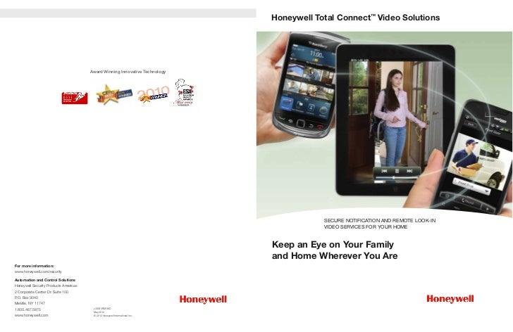 Honeywell Total Connect™ Video                                       Award Winning Innovative Technology                  ...