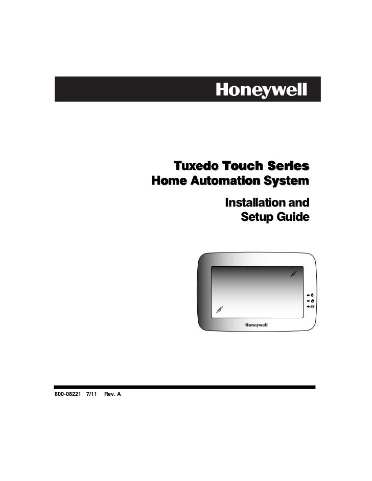 Tuxedo Touch Series                          Home Automation System                                    Installation and   ...