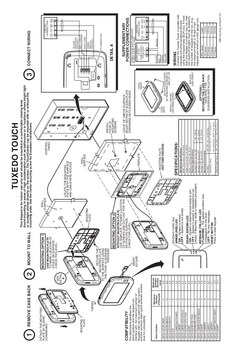 Honeywell Tuxedo Touch Quick Install Guide Ademco Vista 128bp Wiring Diagrams 2